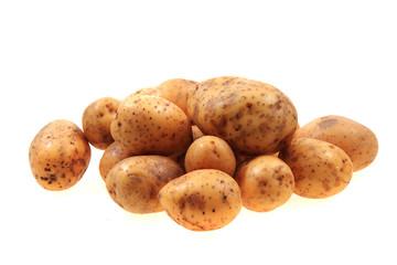 fresh potatoes isolated