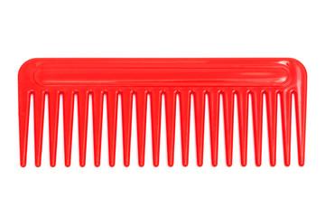 red plastic comb
