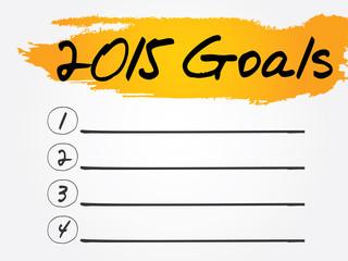 2015 Goals List, business concept