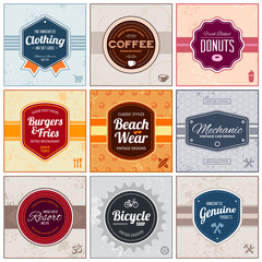 Retro labels