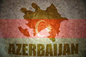 Vintage azerbaijan map