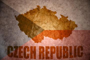 Vintage czech republic map