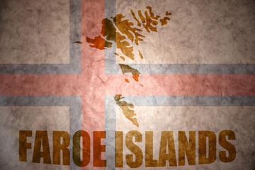 Vintage faroe islands map