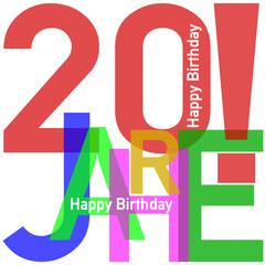 Geburtstag Happy Birthday #150219-09