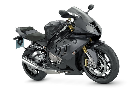 Black sport motorcycle