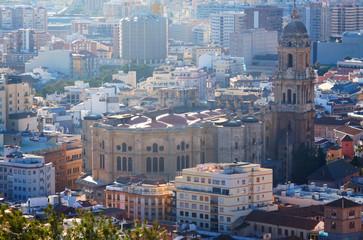 Malaga Cathedral and cityspace