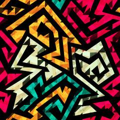 bright tribal seamless pattern