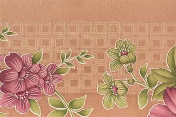 Art fabric flower pattern.