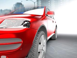 A CG render of a generic luxury sedan sky image