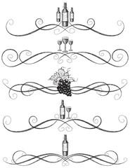 Sketchy wine scrollwork