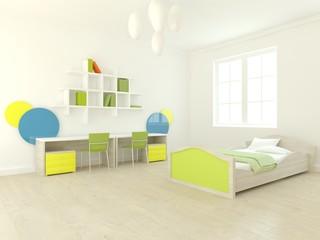 white children interior