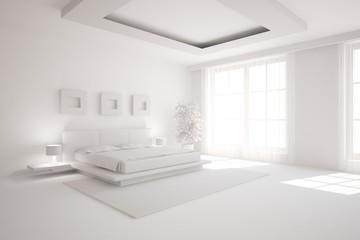grey interior design of bedroom