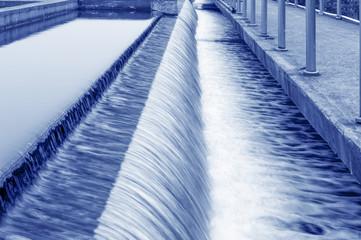 Modern urban wastewater treatment plant.