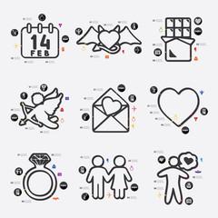 Valentine's Day infographic