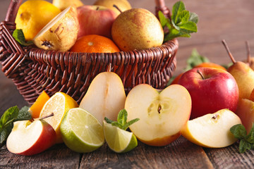 composition with fresh fruits