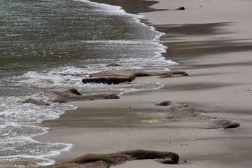 vagues sur le sable - Costa rica