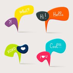 Colorful questions speech bubbles