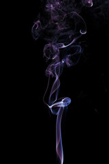 colorful curl of smoke for graphic design