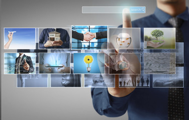 businessmen and Reaching images streaming