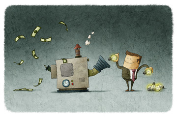 Businessman transforms ideas for money