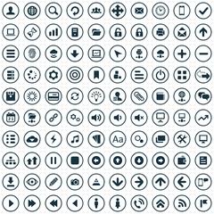 100 app icons.