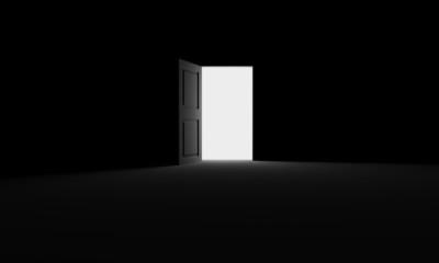 Open door into the darkness
