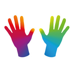 Hands Rainbow Colored