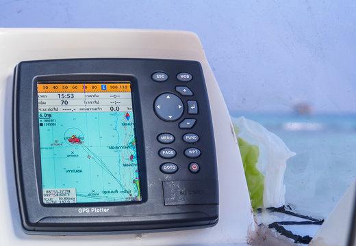 boat GPS navigator
