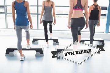Gym heroes against badge
