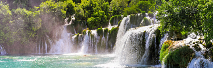 Poster Waterfalls Krka waterfalls