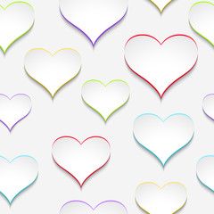 Vector paper hearts