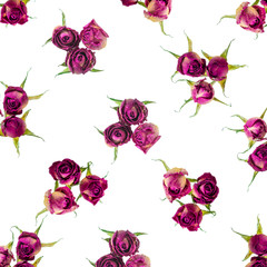 Beautiful dried pink roses like as background, closeup