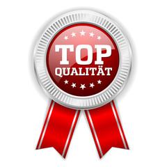 Roter Top Qualität Siegel Mit Silber Rand