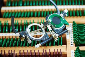 test glasses phoropter for eyesight examinations