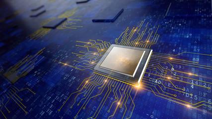Central Computer Processors CPU concept