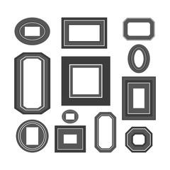 Set of black and white frames