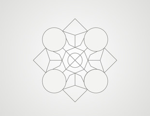 Geometric shape, star design vector