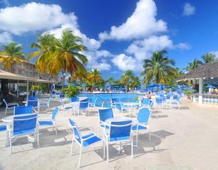 Exotic resort in Caribbean