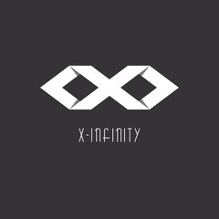 Infinity sign or letter X, idea of modern logo, Infinity sign