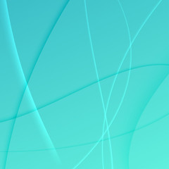 green blue turquoise soft swoosh waves abstract background with