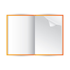 Vector blank notebook on white background