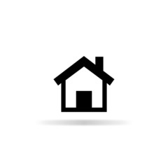Home icon - vector illustration