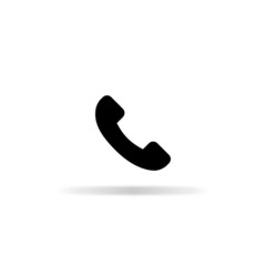 Telephone icon - vector illustration