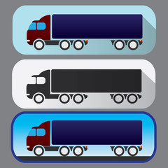 Colored icons of heavy truck