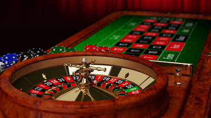 Casino Roulette Table