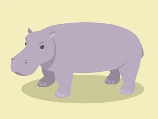Hippopotamus In Flat Style