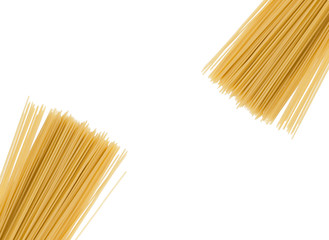spaghetti on a white background