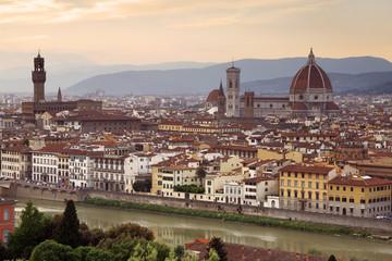 Panorama of Florence at sunset