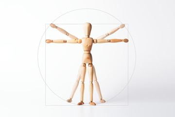 Vitruvianischer Mensch, Leonardo da Vinci