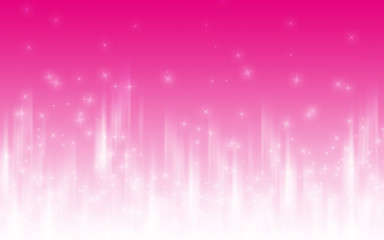 Wall Mural - Background abstract pink white with glowing stars